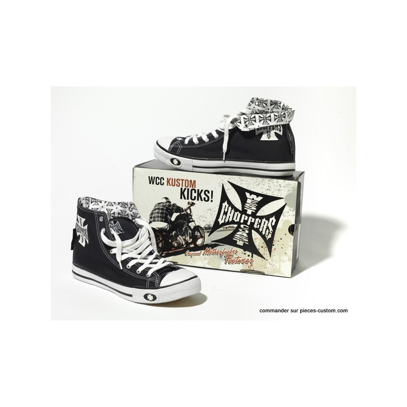 Basket West Coast Choppers Noir/blanc 39