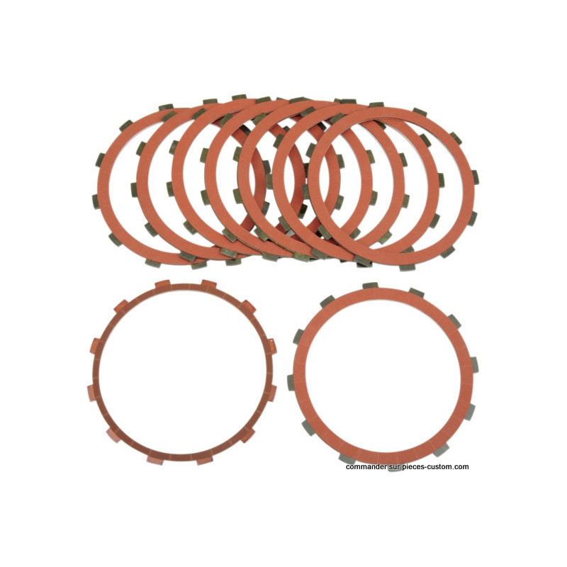 Kit disques garnis Red Eagle Twin cam 98-14