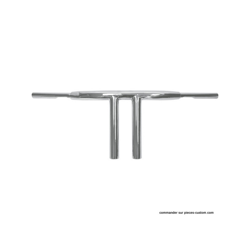Guidon Chopper T-Bar chromé de 10""