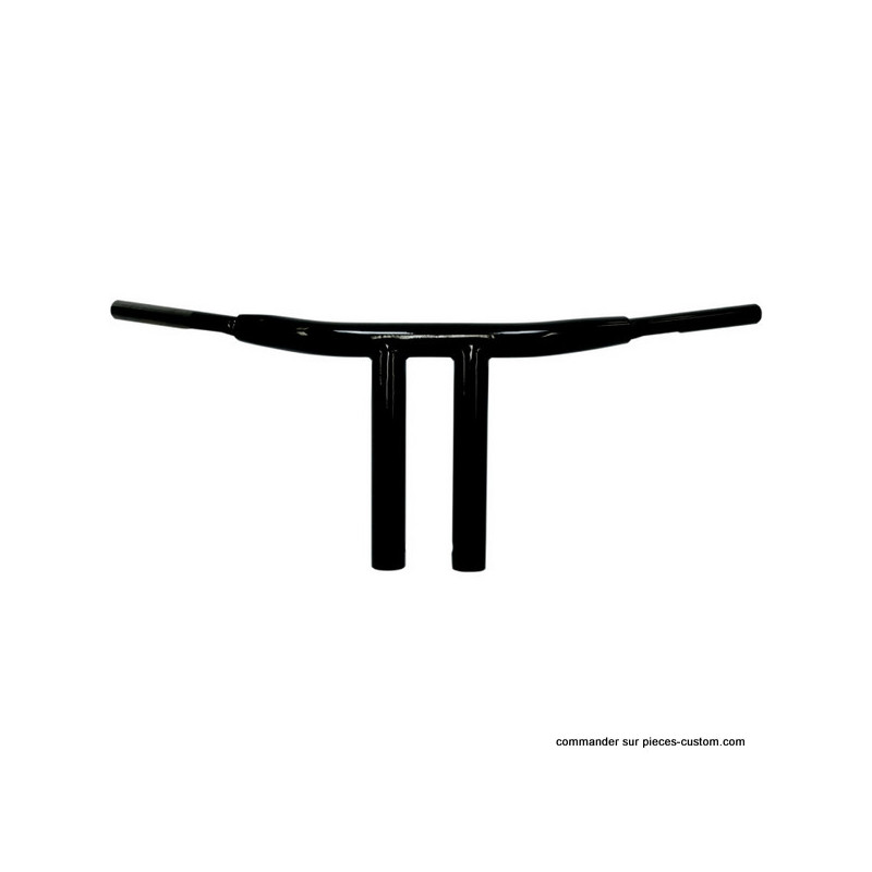Guidon Chopper T-Bar noir de 10""
