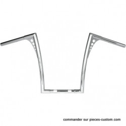 Guidon King Ape Hangers chromé de 19""