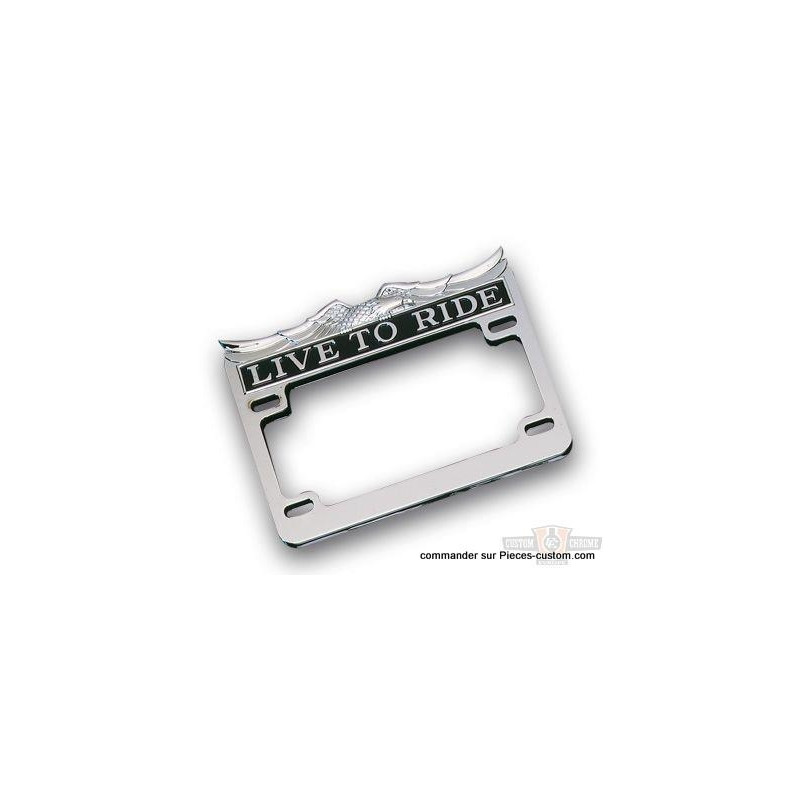 Entourage de plaque Live to Ride Chrome