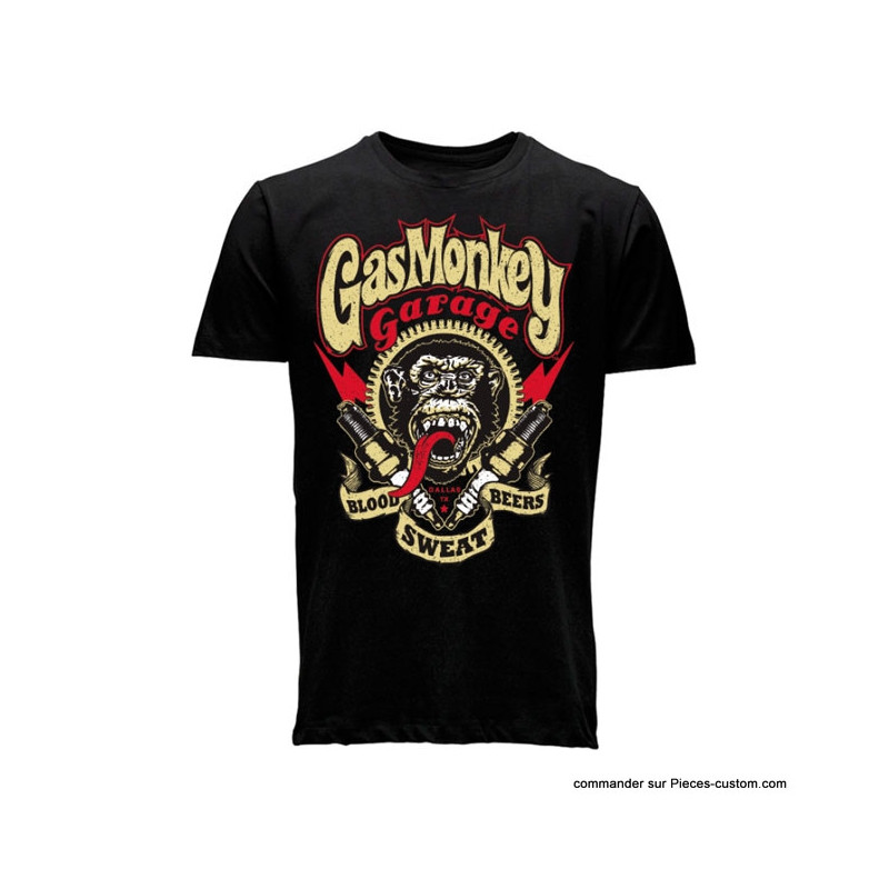T-shirt Blood Sweat de Gas Monkey