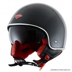 Casque MiniJet Retro Astone Noir brillant