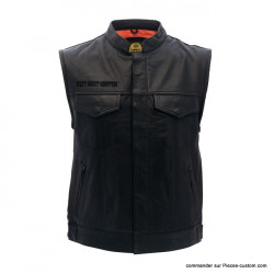 Gilet Cuir brodé West Coast Choppers