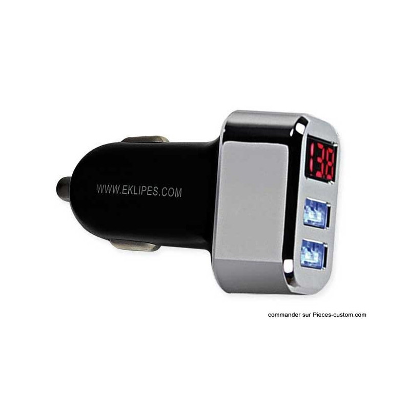 Prise USB Double + indicateur charge batterie