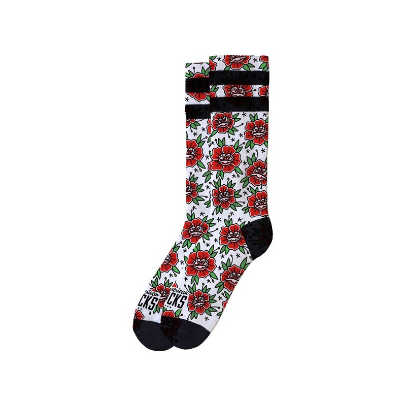 Chaussettes American Socks Sock'n Roses Taille 42-47
