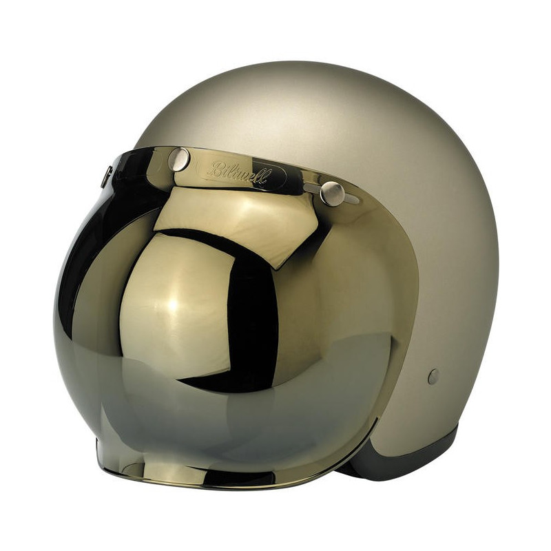 Visière Bubble Biltwell teinte Gold Mirror