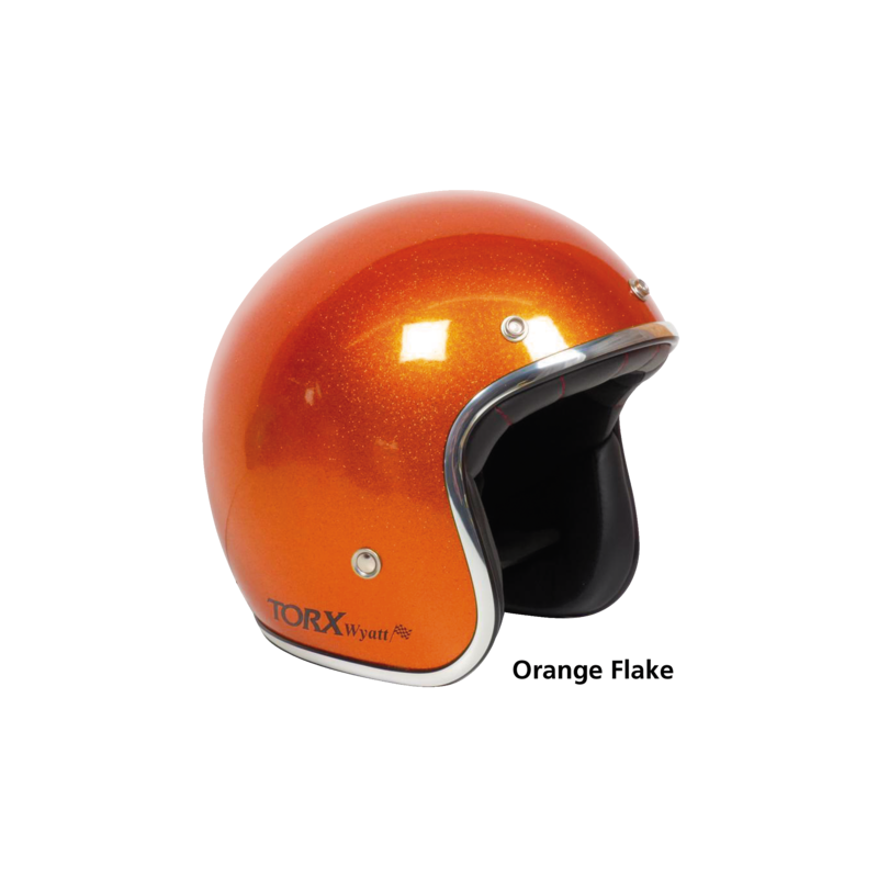 Casque Torx Wyatt style seventies orange pailleté