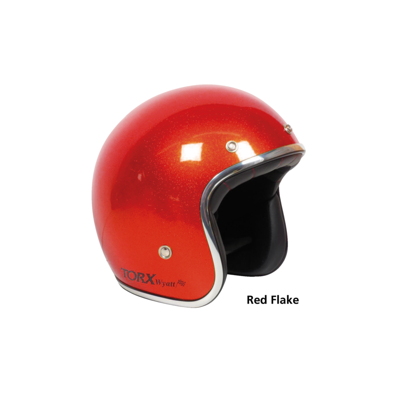 Casque Torx Wyatt style seventies Rouge pailleté