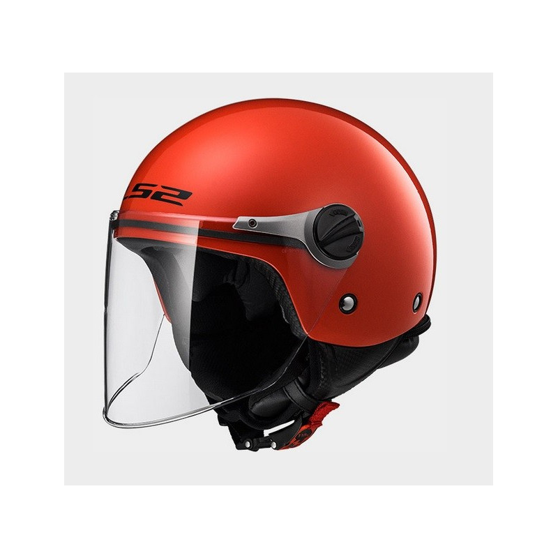 Casque LS2 Mini-jet enfant Wuby Solid OF575 Rouge
