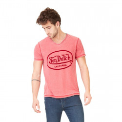 T-shirt Von Dutch Col V AERON Rouge