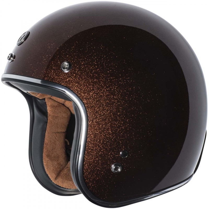 Casque jet Torc T-50 3/4 open face couleur Rootbeer Mega Flake