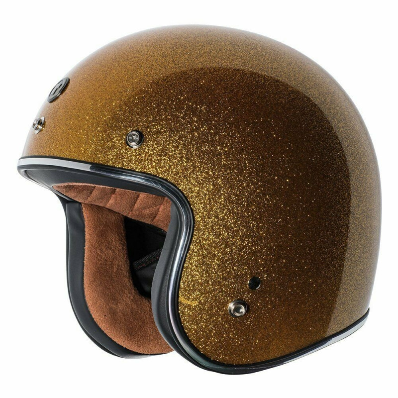Casque jet Torc T-50 3/4 open face couleur Gold Mega Flake