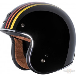 Casque jet Torc T-50 1978 3/4 open face couleur Noir brillant