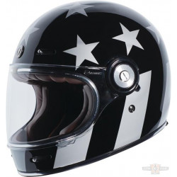 Casque Torc T-1 Captain Vegas Retro Full face couleur noir brillant