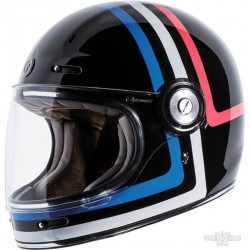 Casque Torc T-1 Americana Tron Retro Full face couleur noir brillant