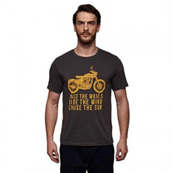 T-shirt Royal Enfield Race the Waves Couleur Gris