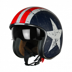 Casque Jet Sprint Rebel star Mat